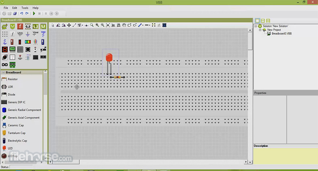 VirtualBreadboard Screenshot 1