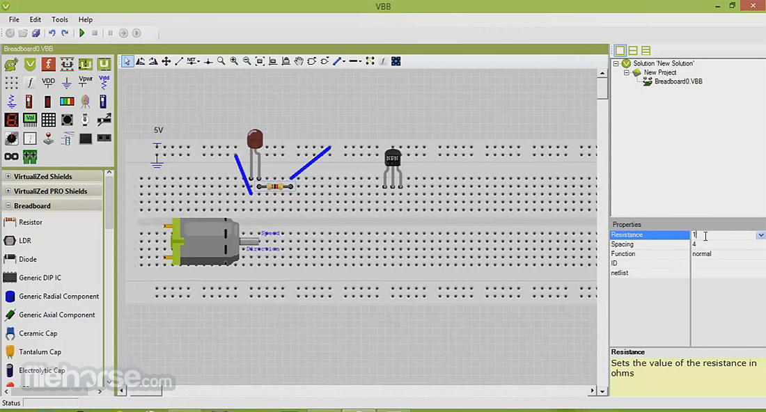 VirtualBreadboard Screenshot 3