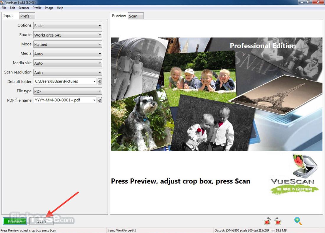 VueScan (32-bit) Screenshot 1