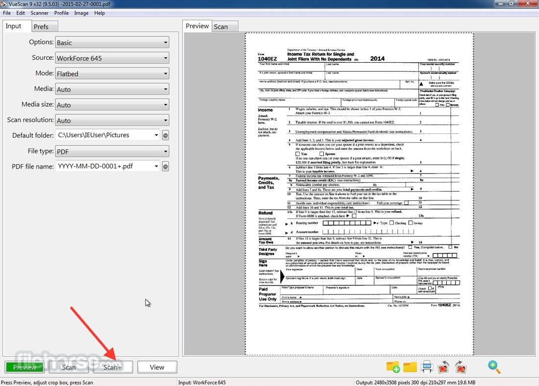 VueScan (32-bit) Screenshot 2