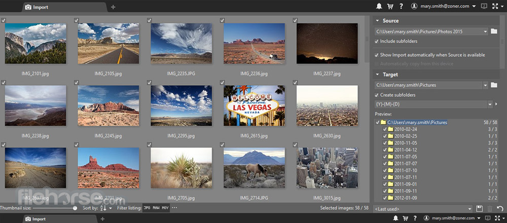 Zoner Photo Studio Free Screenshot 1