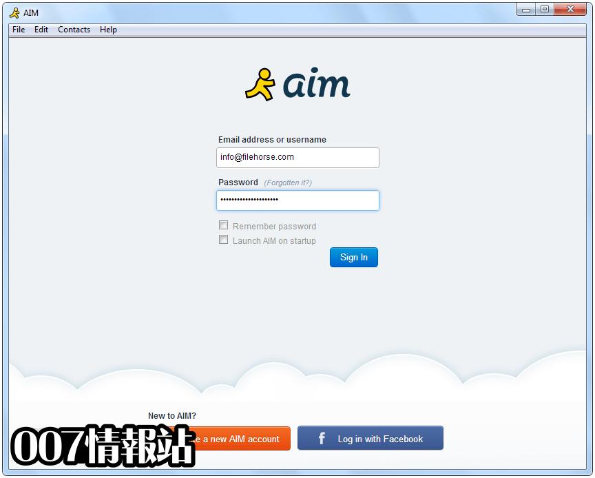 AIM Screenshot 1