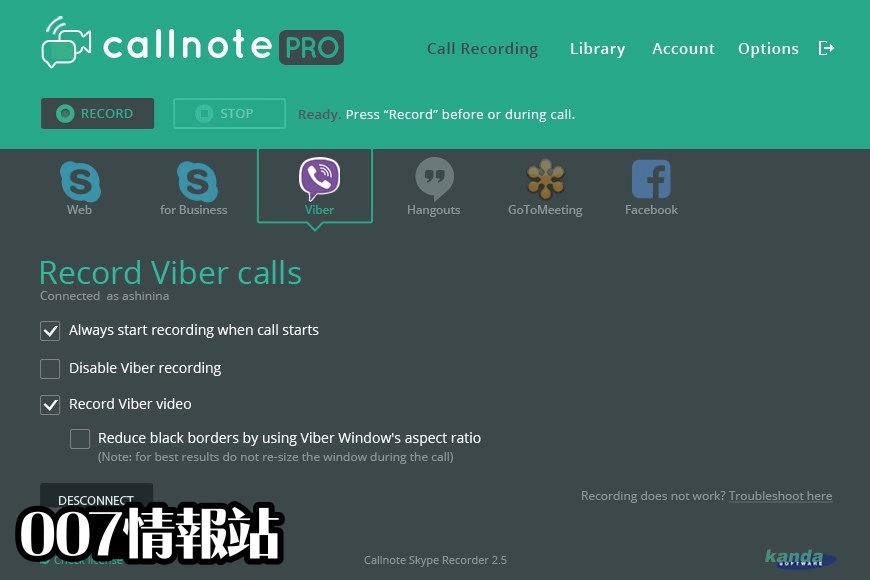 Callnote Screenshot 1