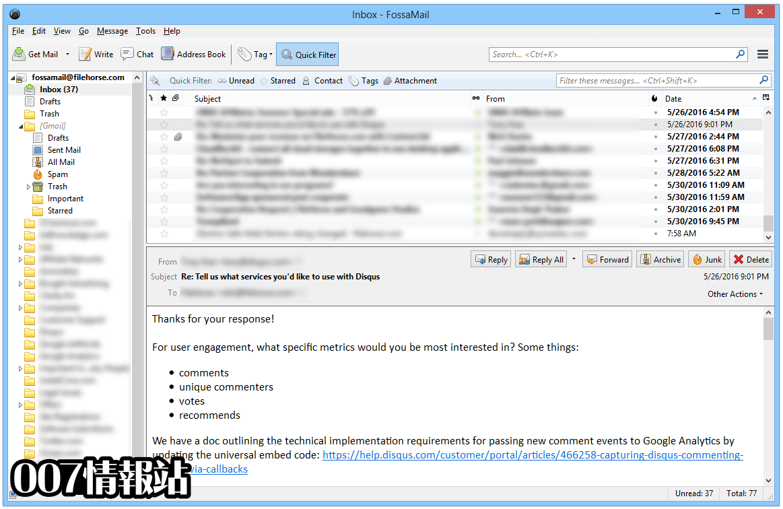 FossaMail (64-bit) Screenshot 2