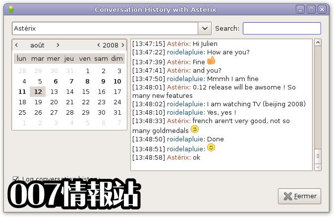 Gajim Screenshot 4