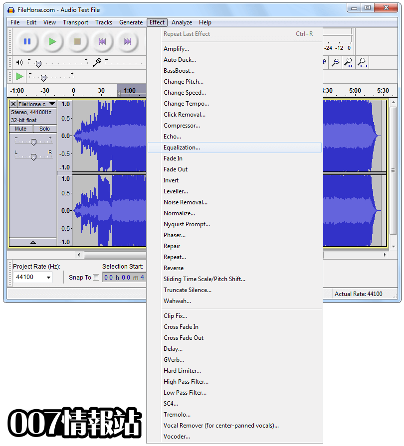 Audacity Screenshot 2