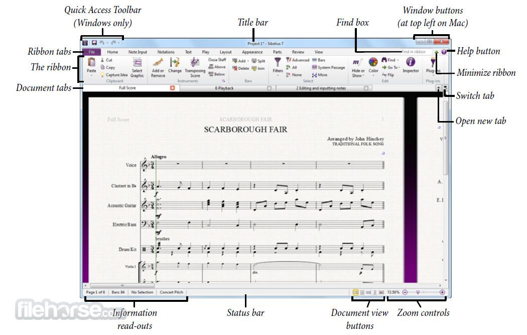 Sibelius Screenshot 2