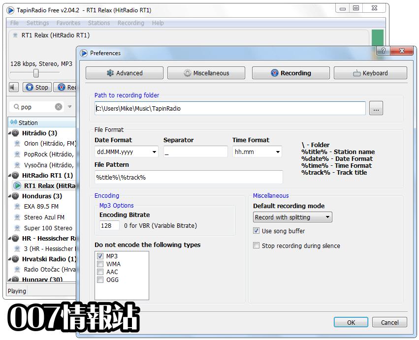 TapinRadio (32-bit) Screenshot 5