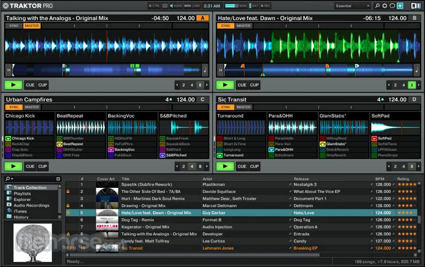 Traktor DJ software Screenshot 1