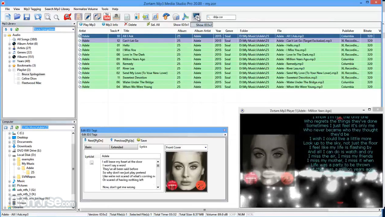Zortam Mp3 Media Studio Screenshot 3