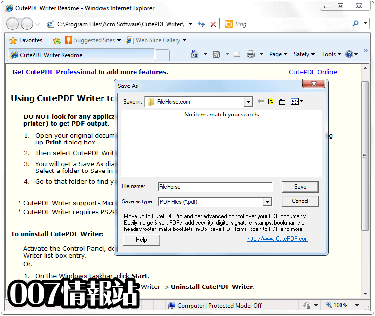 CutePDF Writer Screenshot 2
