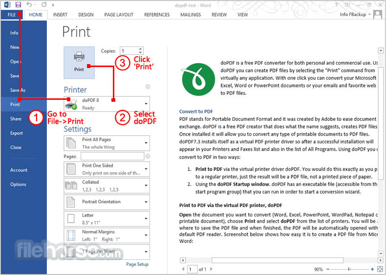 doPDF Screenshot 3