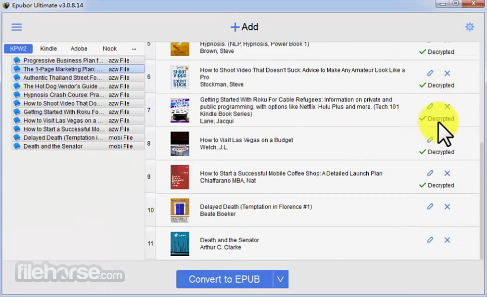 Epubor Ultimate eBook Converter Screenshot 3