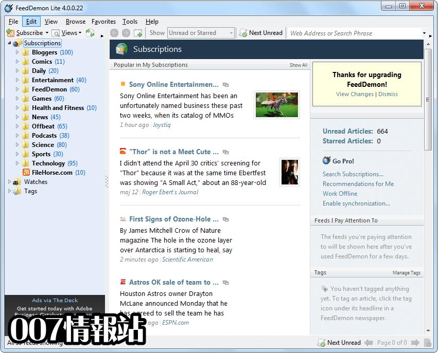 FeedDemon Screenshot 1