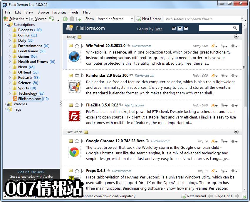 FeedDemon Screenshot 2