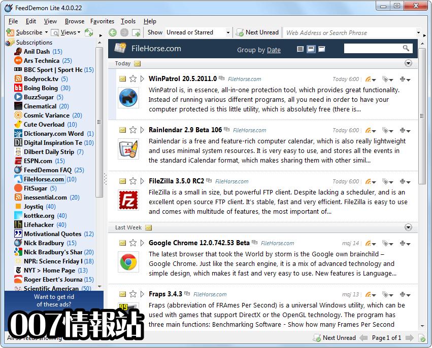 FeedDemon Screenshot 3