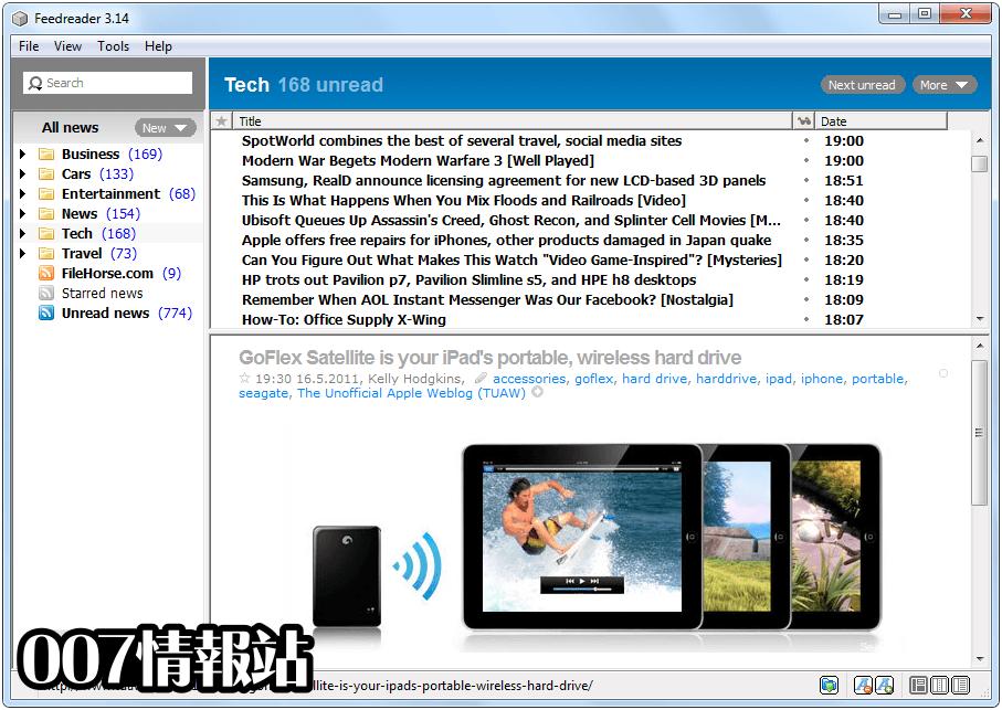 FeedReader Screenshot 2