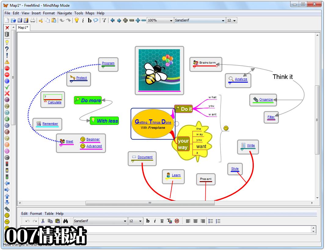FreeMind Screenshot 1