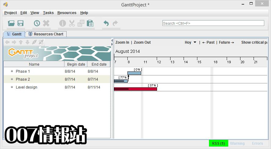 GanttProject Screenshot 1