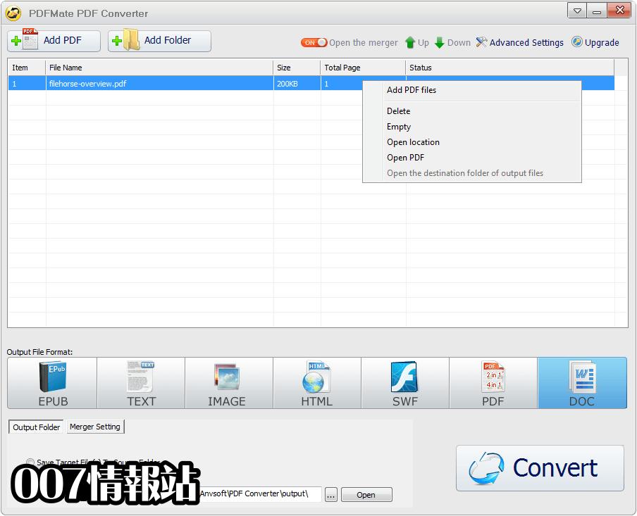 PDFMate PDF Converter Free Screenshot 2