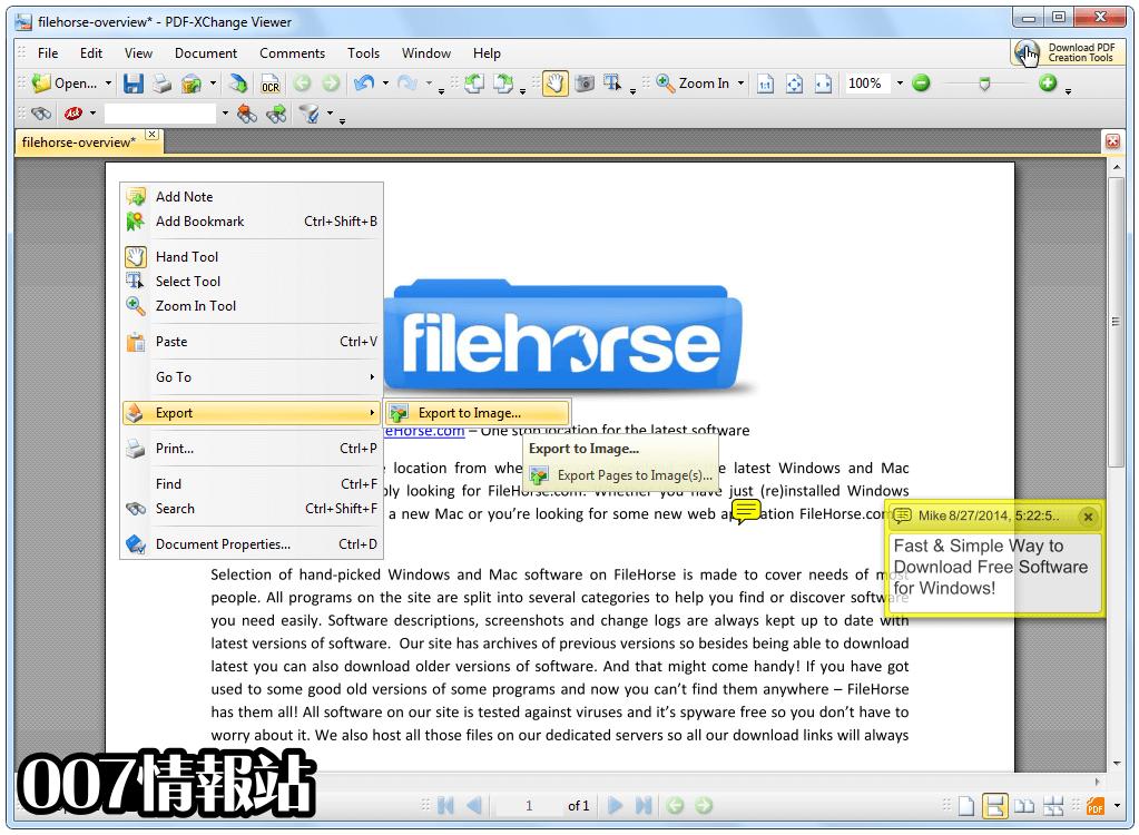 PDF-XChange Viewer Screenshot 1
