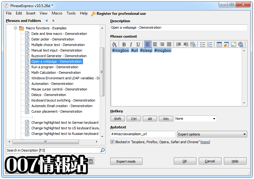 PhraseExpress Screenshot 3