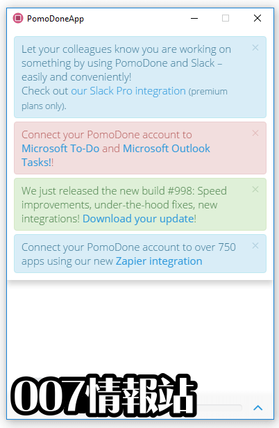 PomoDoneApp Screenshot 1