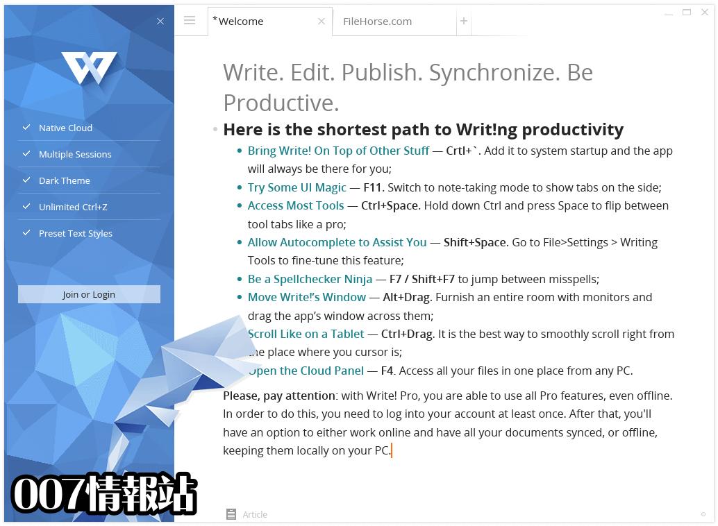 Write! Screenshot 1