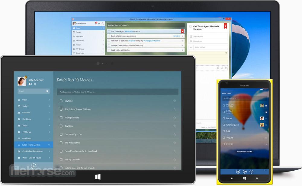 Wunderlist for Windows Screenshot 2