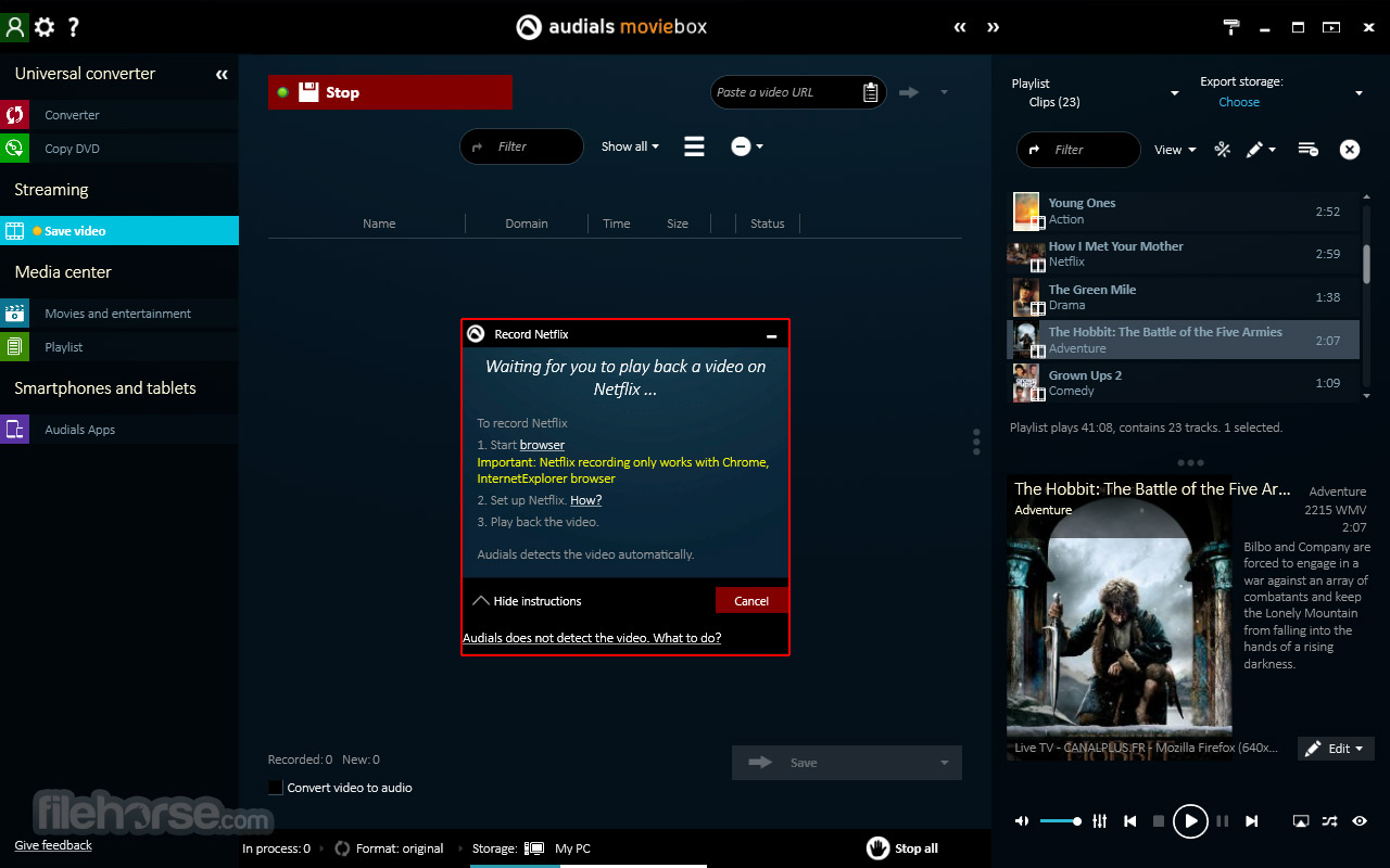 Audials Moviebox Screenshot 1