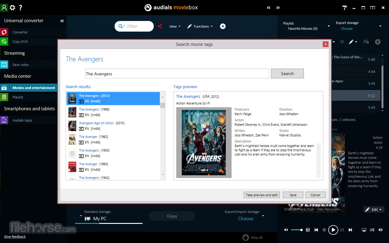 Audials Moviebox Screenshot 3