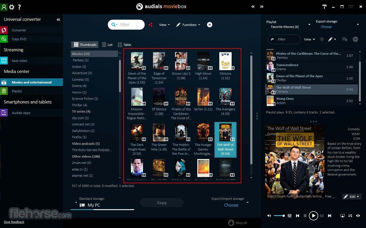 Audials Moviebox Screenshot 4