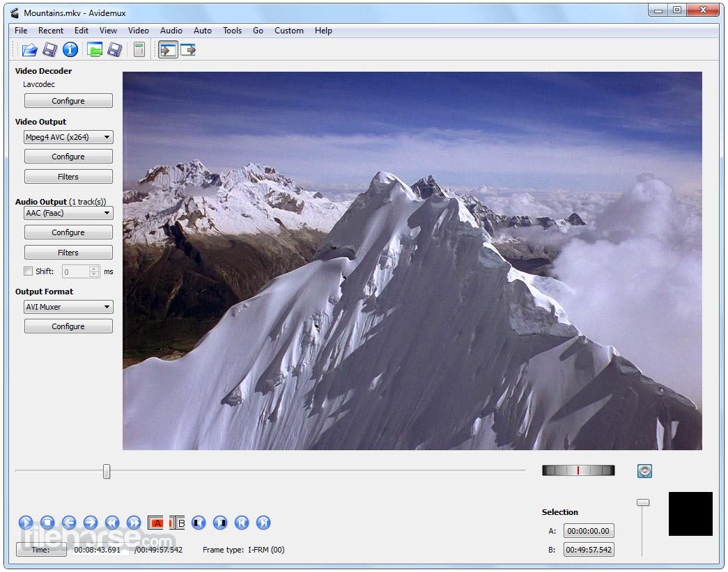 Avidemux (64-bit) Screenshot 1