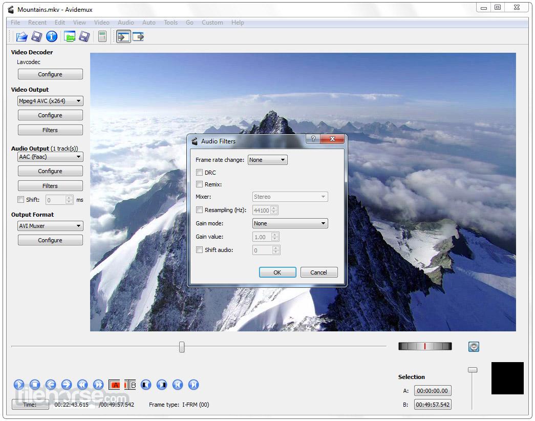Avidemux (64-bit) Screenshot 4