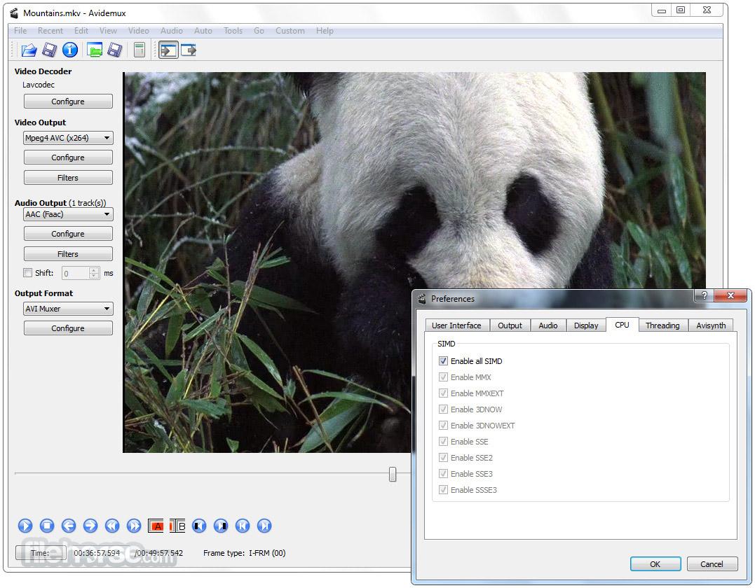 Avidemux (64-bit) Screenshot 5