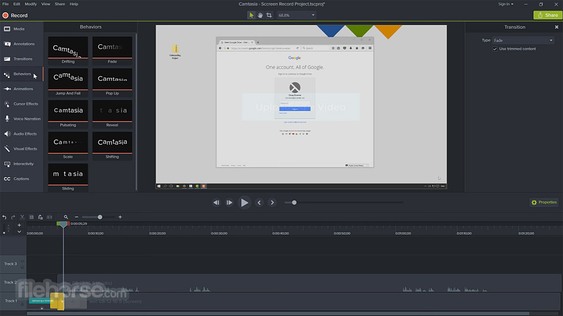 Camtasia Studio Screenshot 3