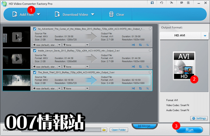 HD Video Converter Factory Pro Screenshot 1