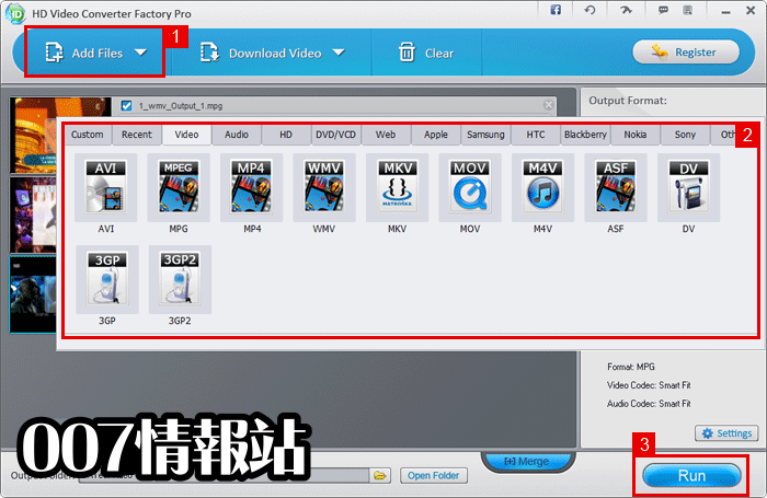 HD Video Converter Factory Pro Screenshot 2