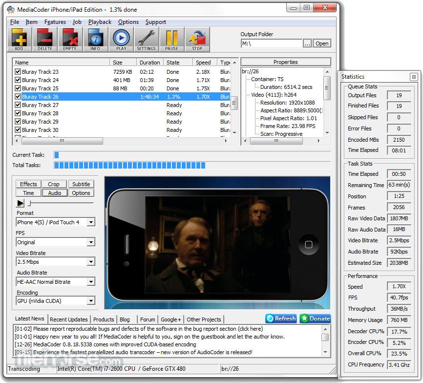MediaCoder (64-bit) Screenshot 1
