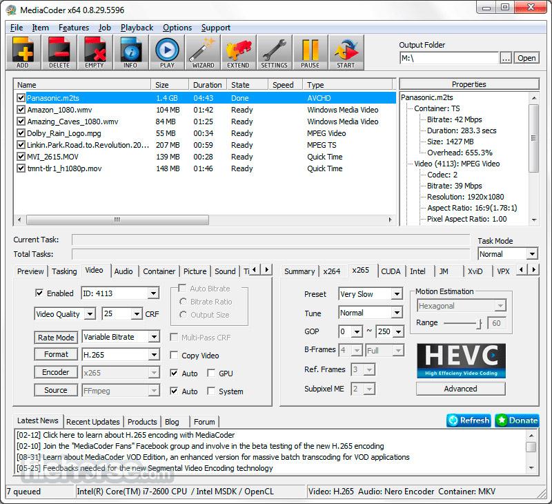 MediaCoder (64-bit) Screenshot 2