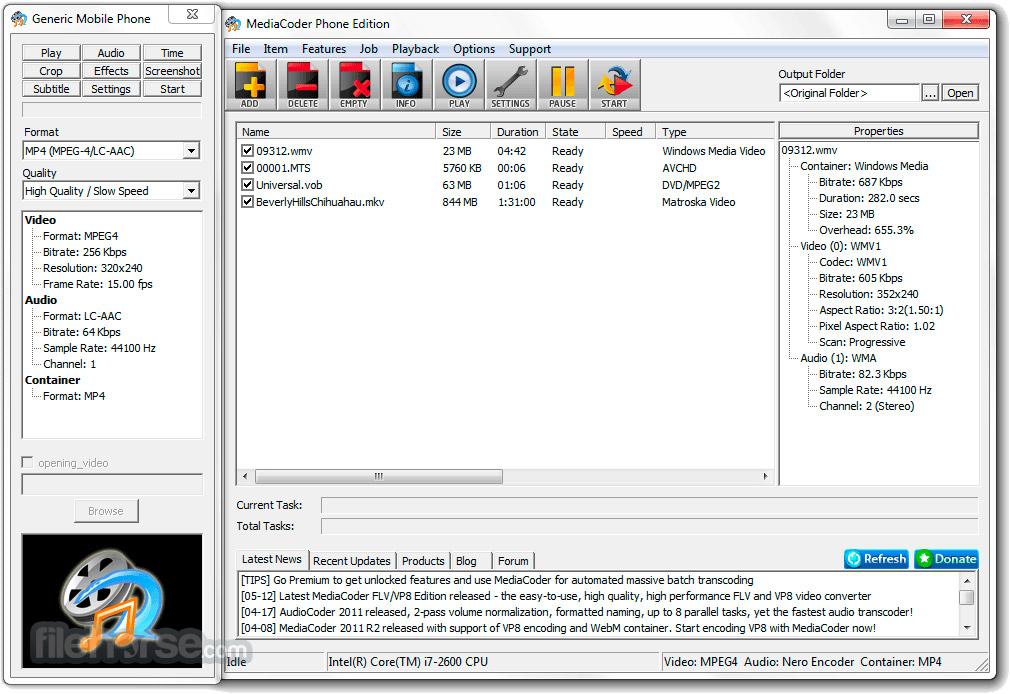 MediaCoder (64-bit) Screenshot 4