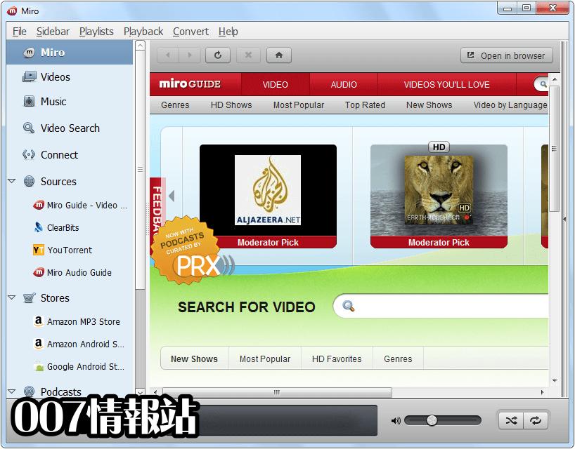 Miro Video Player Screenshot 1