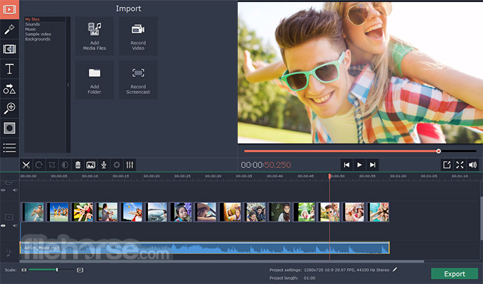 Movavi Video Editor Screenshot 1