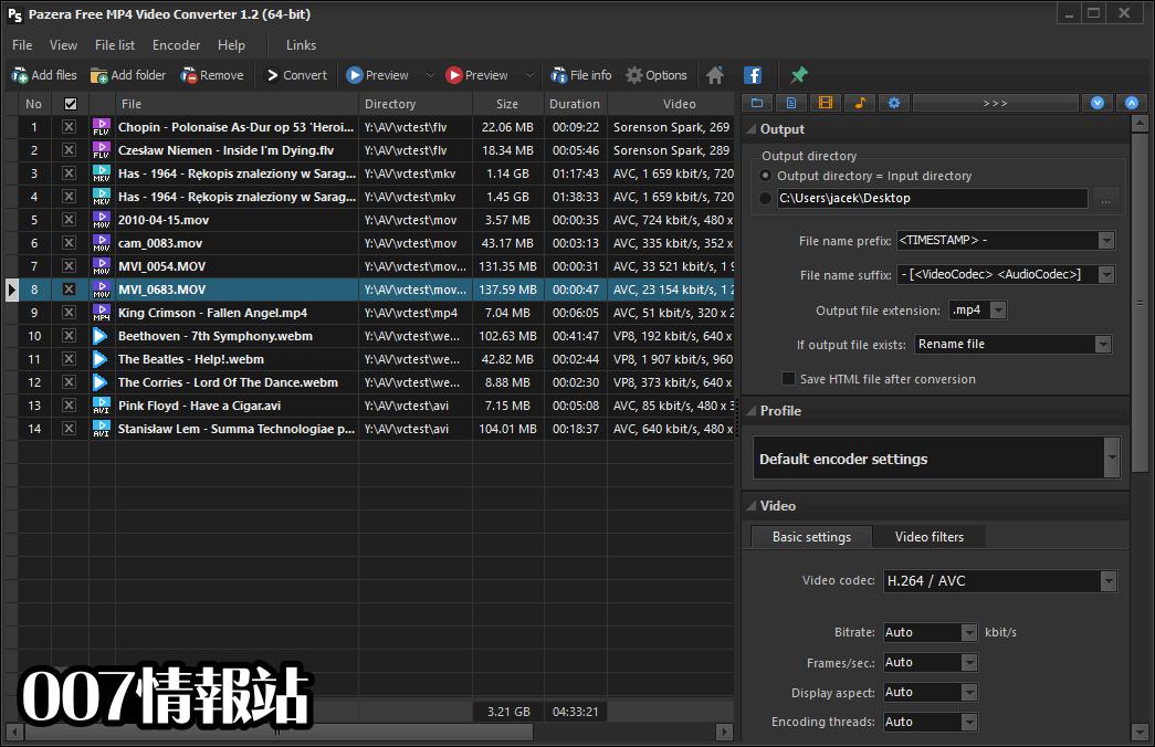 Pazera Free MP4 Video Converter Portable (32-bit) Screenshot 2