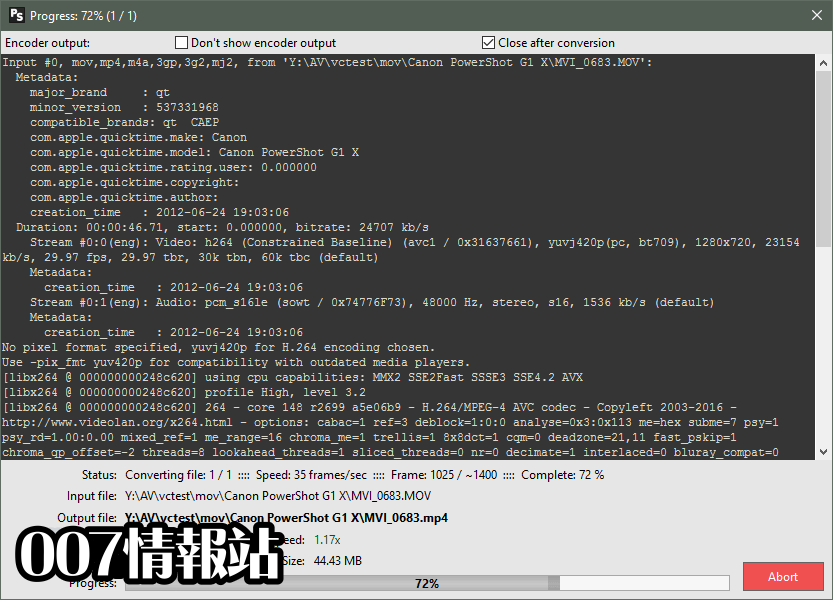 Pazera Free MP4 Video Converter Portable (32-bit) Screenshot 3