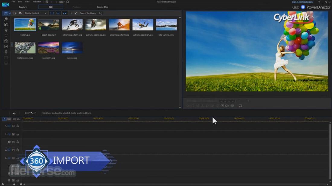PowerDirector Screenshot 1
