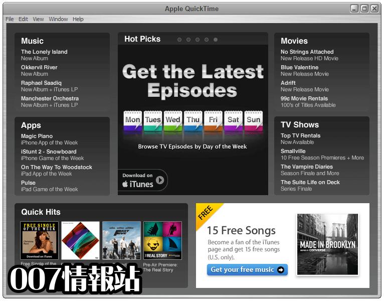 QuickTime Player Screenshot 2