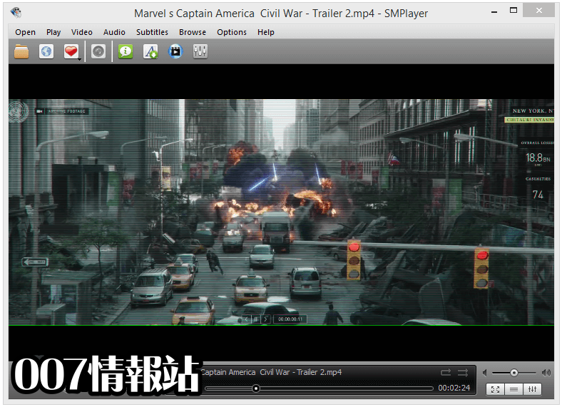 SMPlayer (64-bit) Screenshot 1