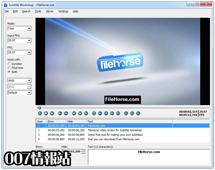 Subtitle Workshop Screenshot 1