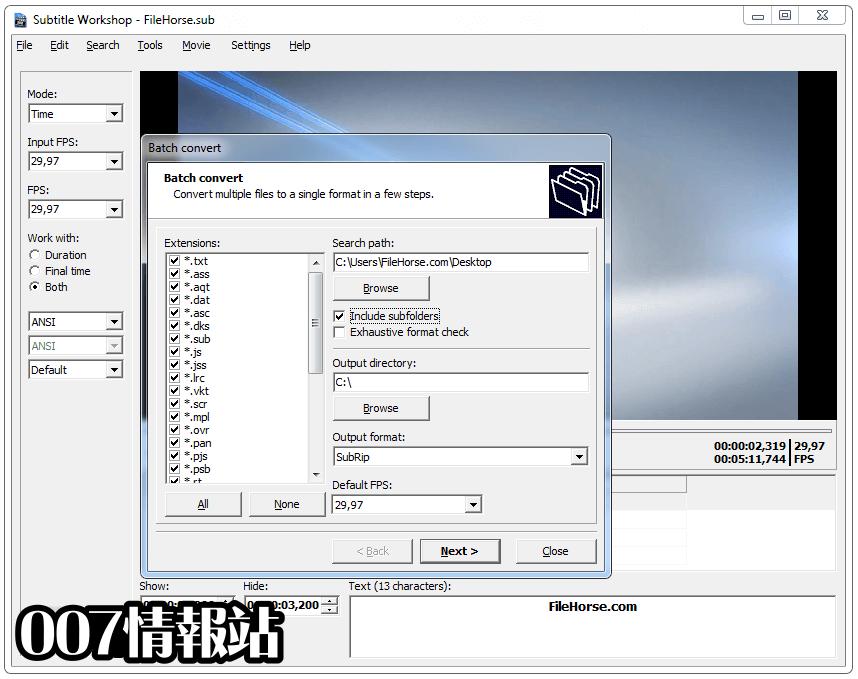 Subtitle Workshop Screenshot 3